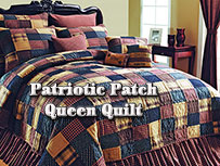 Patriotic Patch Quilt - Queen