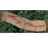 Merry Christmas Burlap Ribbon
