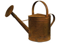 Brown Watering Can - 12-1/2\