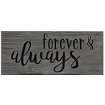 Forever & Always Engraved Sign