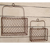 2/Set, Chicken Wire Wall Baskets