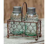 Chicken Wire Caddy W/Shakers