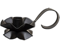 Black Flower Taper Holder