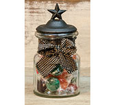 Glass Jar W/ Star Lid