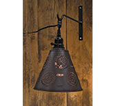 Punched Tin Shade w/Cord