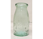 Green Glass Milk Bottle, 5-1/2""