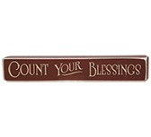Count Your Blessings Engraved Block, 12\