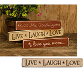 Live Laugh Love Engraved Block