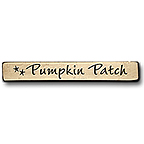 Pumpkin Patch Engraved Block