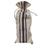 Black Striped Wine Bag