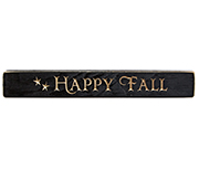Happy Fall Engraved Block - 12""