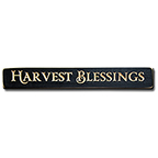 +Harvest Blessings Engraved Block