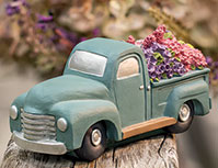 Flowers 4 Sale Blue Resin Truck
