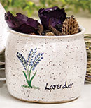 Lavender Glazed Mini Crock