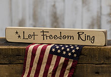 Let Freedom Ring Block - 12""