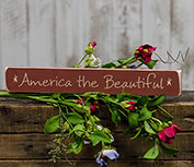 America Engraved Block, 12""