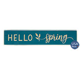 Hello Spring Engraved Sign, 18\