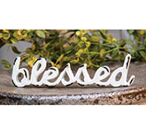 \\'\\'Blessed\\'\\' Distressed White Resin Figurine