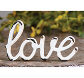 \\'\\'Love\\'\\' Distressed White Resin Figurine