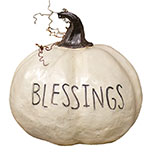 Blessings Resin Pumpkin