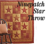 Ninepatch Quilted Throw