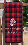 Red Buffalo Check Merry and Bright Towel