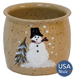 Snowman Glazed Pottery