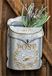 Galvanized Metal Mailbox