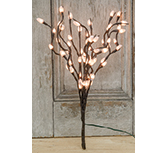 Pussy Willow Lighted Branch - Electric - 19-3/4""