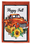 Truck With Pumpkins Garden Flag