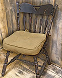 Burlap Chair Pad
