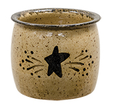 Black Star Glazed Votive Holder