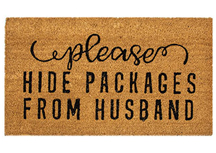 Please Hide Packages Door Mat, 30x18