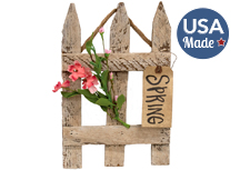 Spring Hanging Lath Gate w/Pink Flowers, 13\