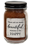 Beautiful Reasons to be Happy Pint Jar Candle, Buttered Maple Syrup