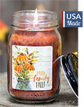 Faith Family Fall Pint Jar Candle, Pumpkin Spice