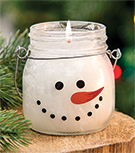 Twisted Peppermint Snowman Head Candle