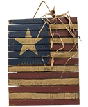 Lath Americana Flag Plaque, 15\