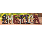 America Table Sign