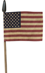 Tea Stained Flag On Stick