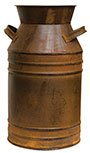 Rusty Milk Can, 13""