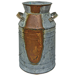Galvanized Milk Can, 11""