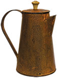 Rusty Coffee Pot, 7""