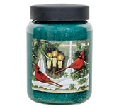 Cardinals Jar Candle, Balsam Fir, 26oz