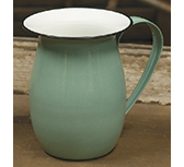 Green Enamel Pitcher, 6.5\