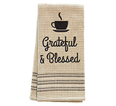 Grateful & Blessed Dish Towel, 20x28