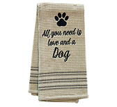 Love & Dog Dish Towel, 20x28