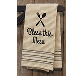 Bless This Mess Dish Towel, 20x28