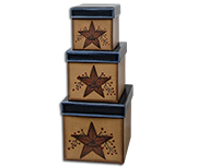 Star and Berry Boxes, 3/set