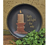 Faith Will Light Plate